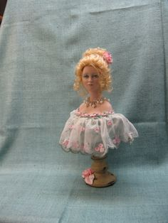 Porcelain Bust Doll  A beautiful Victorian Lady Bust by KaysStudio
