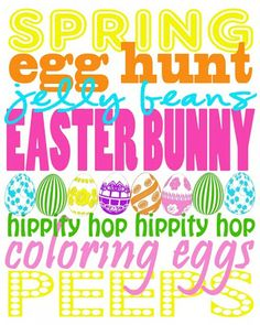 EASTER PRINTABLES!!!