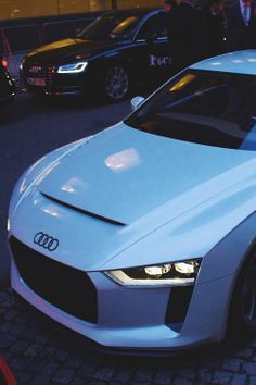 White Audi Quattro Concept