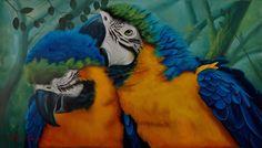 A riqueza da nossa fauna, com suas cores vibrantes, retratados nessa linda tela.