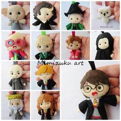 Christmas ornaments Harry Potter felt ornaments Hermione