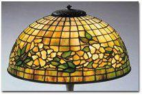 "Tiffany Studios ""Dogwood"" pattern table lamp. E. 20th century."
