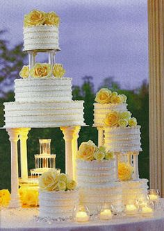 Elaborate Wedding Cake, Jamaican Style Rum Cake