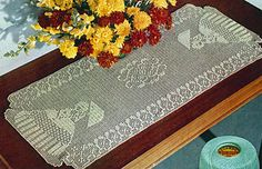 Ravelry: Garden Walk Chair Set & Runner #CL-259 pattern by The Spool Cotton Company