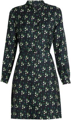 A.P.C. Irène floral-print silk shirtdress