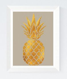 Pineapple stitch pattern Modern cross stitch patterns Geometric pineapple cross stitch pattern PDF H Easy Cross Stitch Patterns, Simple Cross Stitch, Cross Stitch Designs, Cross Stitching, Cross Stitch Embroidery, Embroidery Patterns, Hand Embroidery, Cross Stitch Fruit, Cross Stitch Rose