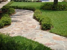 Eco Outdoor porphyry crazy paving curved paths | Eco Outdoor | porphyry split…