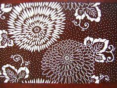 Vintage Japanese Katagami Stencil Chrysanthemums Kiku Flowers. $35.00, via Etsy.