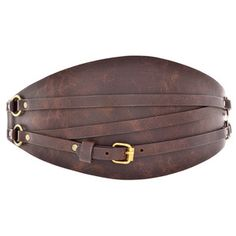 Anna Belt Rustic Chocolate now featured on Fab.