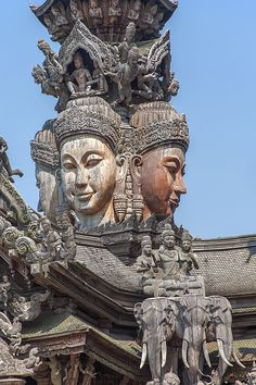 Temple Photograph - The Sanctuary Of Truth Carvings by Gerry Gantt Indian Temple Architecture, Ancient Architecture, Landscape Architecture, Lord Shiva Painting, Nepal, Traditional Japanese Art, Tibetan Art, Ancient Mysteries, Cartoon Faces