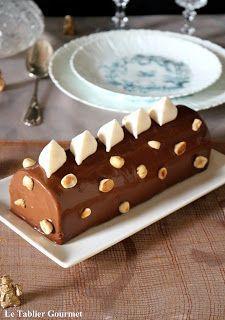 Bûche Manon (café et praliné) Vegan Dessert Recipes, Low Carb Desserts, Just Desserts, Cake Recipes, Dessert Original, Food Platters, Low Carb Bread, Low Carb Breakfast, Food Cakes
