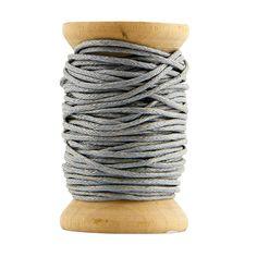 Petite bobine coton ciré - gris