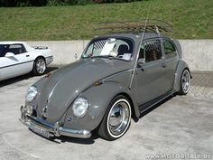 Classic VW - whitewalls and chrome reverse!