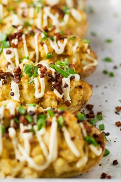 Protein-Packed Twice-Baked Potatoes | Vegan | Gluten-free | Oil-free | Plant-based | http://www.eatwithinyourmeans.com/