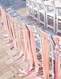 wedding chair decor sash