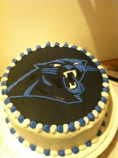 Carolina Panthers logo cake
