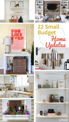Big changes in your home don't have to come from big renovations or remodels. You can make some significant changes on a small budget with these interior decorating ideas! Changing a light fixture, adding a kitchen back splash, using wood pallets to make an accent wall, installing crown molding -- all these things can be done on the cheap and make a huge difference.