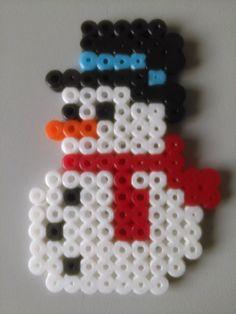 Muñeco de Nieve con Hama Beads