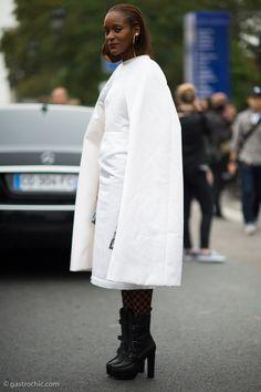 High-drama gorgeousness indeed! #MichelleElie in CdG in Paris.