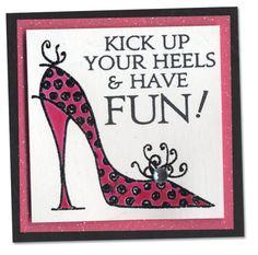 M Card high heel