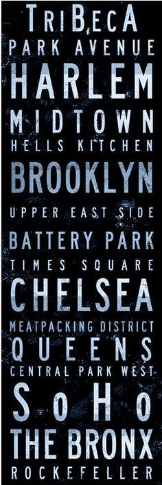 New York city borough plates...