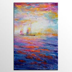Abstract Painting LARGE Canvas Art Wall Art Abstract by Topart007