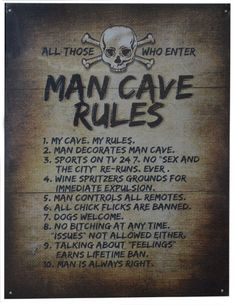 Man Caves Rules