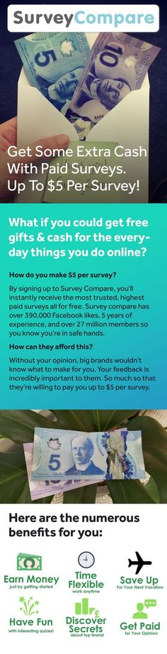 You may have signed up to take paid surveys in the past and didn't make any money because you didn't know the correct way to get started! Earn Money From Home, Earn Money Online, Online Jobs, How To Make Money, Surveys For Cash, Paid Surveys, Earn Extra Cash, Extra Money, Work From Home Moms