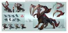 ArtStation - Biochemical monster Design, Xuexiang Zhang
