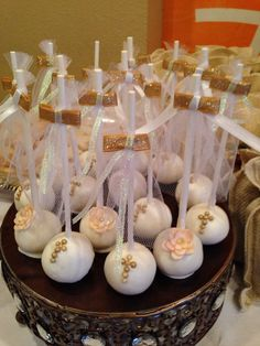 First communion baptism cake pops