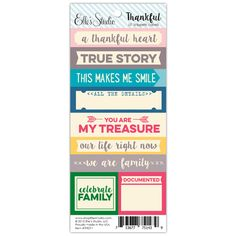Thankful - Word Labels