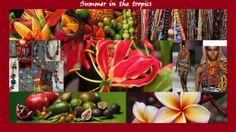 """het modethema """"summer in the tropics"""" is kleurrijk en vrolijk"""