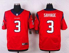 Houston Texans #3 Tom Savage Red Elite Stitched Jersey Price $25