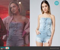 Fashion Tv, Star Fashion, Fashion Outfits, Denim And Lace, Light Denim, Lee Daniels Star, Stylish Outfits, Cute Outfits, Tube Top