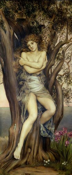 "Evelyn Pickering De Morgan (English Pre-Raphaelite painter) 1855 - 1919 The Dryad, 1884 128.6 x 67.4 cm. signed painted: ""EP 1884-5"", lower right De Morgan Centre, London, United Kingdom"