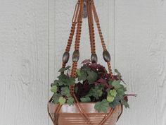 Macrame Plant Hanger/Indoor Plant Holder/Pot Hanger/Hanging Planter/Flower Pot Hanger/Summer Garden Decor/70's/Boho/Hippie by handmadecraftsbybob on Etsy