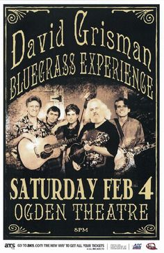 Original concert poster for David Grisman at The Ogden Theatre in Denver, CO in 2010. 11