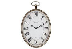 """20"""" Pocket Watch Wall Clock, Vertical on OneKingsLane.com"""