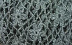 flower crochet stitch - step by step photo tutorial with diagram for each step! by Mexxicanheart
