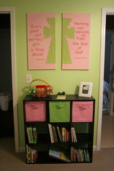bible verses for baby room | The Organ Family: Baby Nursery: Handmade With Love