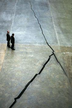Doris Salcedo, Shibboleth, 2007 I love walking through the tate and recognising the filled in cracks