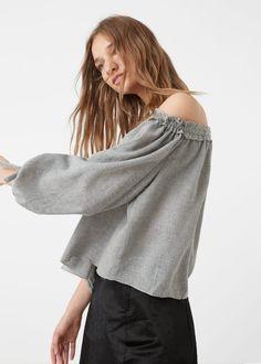 Blusa off shoulder | MANGO