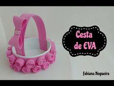 Diy - Cesta Feita com Papelão e EVA 💖 - YouTube