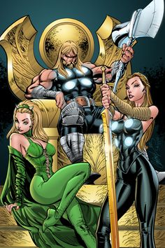 Watching Over Asgard - J. Scott Campbell and J-Skipper