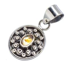 Silver Pendants – Citrine Pendant, 925 Silver Pendant, Yellow Stone – a unique product by Midas-Jewelry on DaWanda