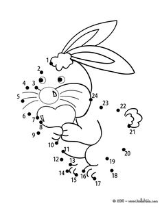 Lovely Bunny printable connect the dots game. There is a new Lovely Bunny in printable dot to dot games section. Preschool Writing, Kindergarten Worksheets, Easter Activities, Preschool Activities, Connect The Dots Game, Free Games For Kids, Free Coloring Pages, School Fun, Easter Crafts