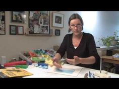 Author and illustrator Barbara Reid demonstrates how she creates pictures using plasticine