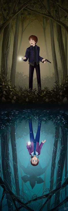 Stranger Things art by Sara Walter - Jonathan Byers and Nancy Wheeler