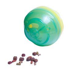Comedouro e Brinquedo Pet Ball Mini Gatos e Cães até 5kg Verde e Amarelo. #petmeupet #petgames #petball #brinquedo #brinquedointerativo #brinquedointeligente #brinquedoparacachorro #brinquedoparagato #promocao #desconto