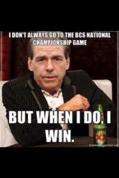 Yea ya do, Nick! #Saban #Alabama Roll Tide! Check out a great new sports blog all #CollegeFootball stories that inform and entertain RollTideWarEagle.